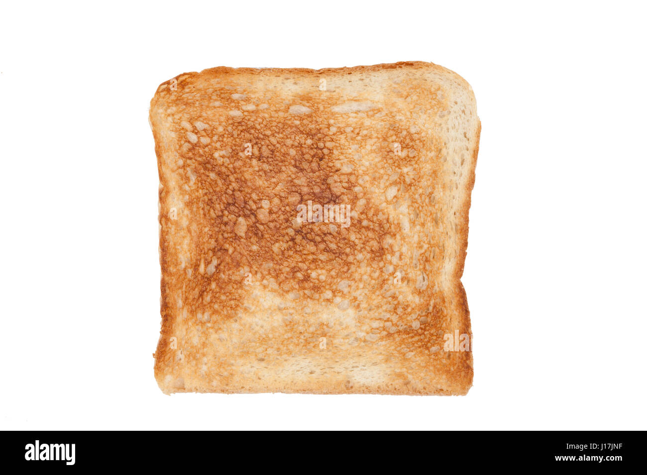 Slice of tast bread - Stock Image