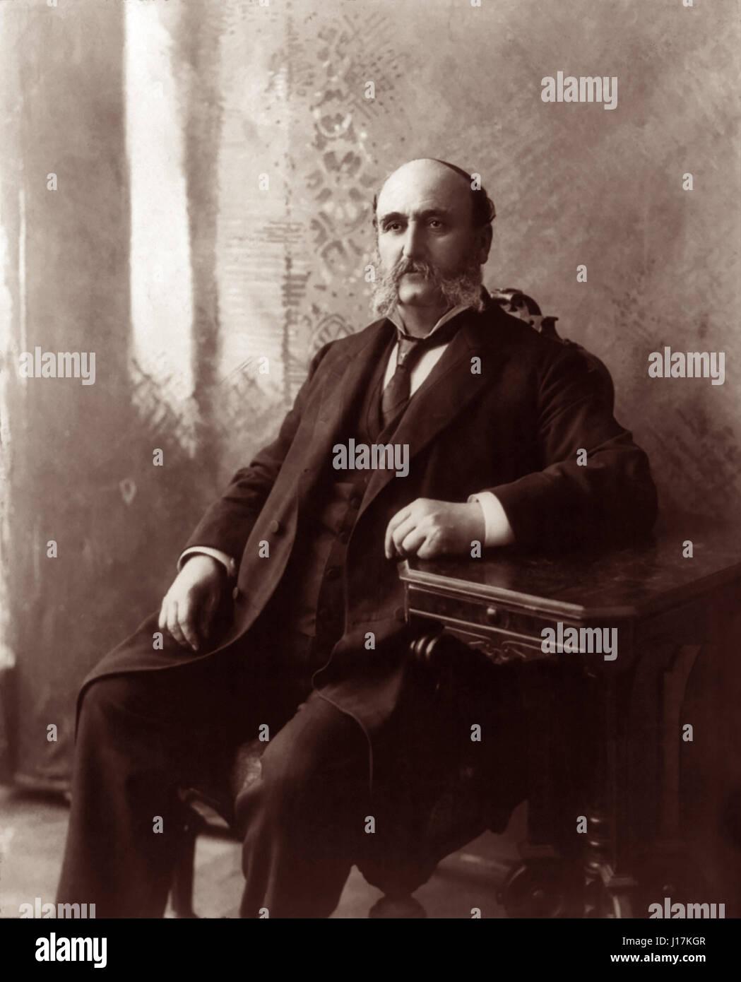 Ira D. Sankey (1840-1908) was an American hymn writer, arranger, and Gospel singer associated with evangelist Dwight - Stock Image