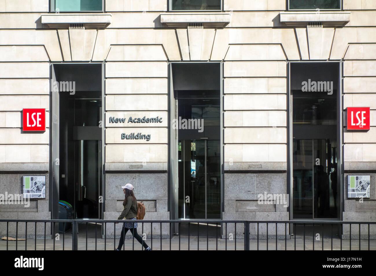 London School of Economics, LSE, New Academic Building, Kingsway, London, UK - Stock Image