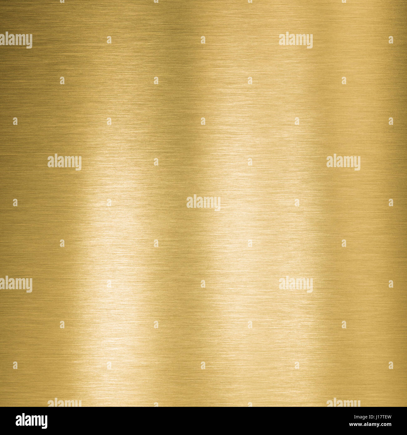 square gold metal plate - Stock Image