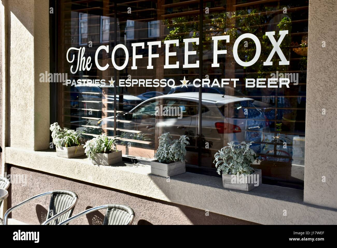 coffee fox pasties espresso and beer savannah georgia stock photo