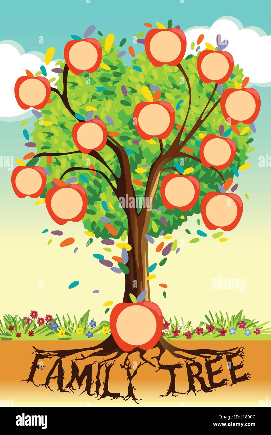 a vector illustration of family tree template stock vector art  u0026 illustration  vector image