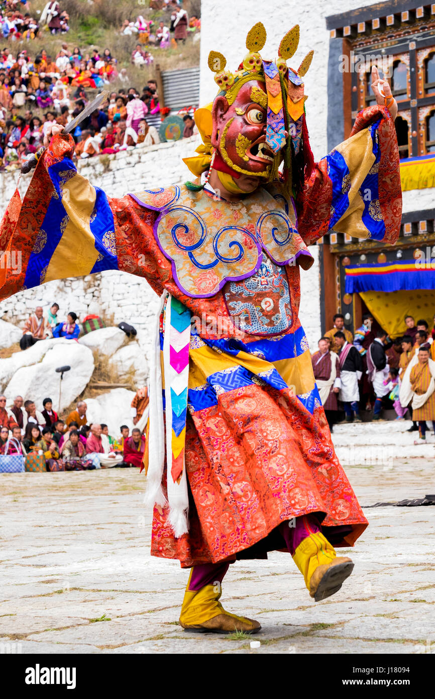 Cham dancer is invoking the spirits and deities during one of the