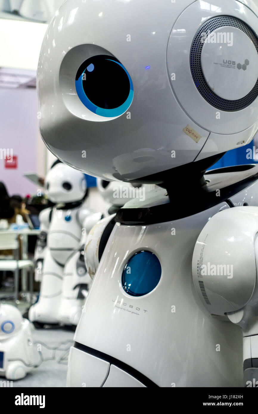 CEBIT 2017 Hannover, Transcorp Robotics Stock Photo