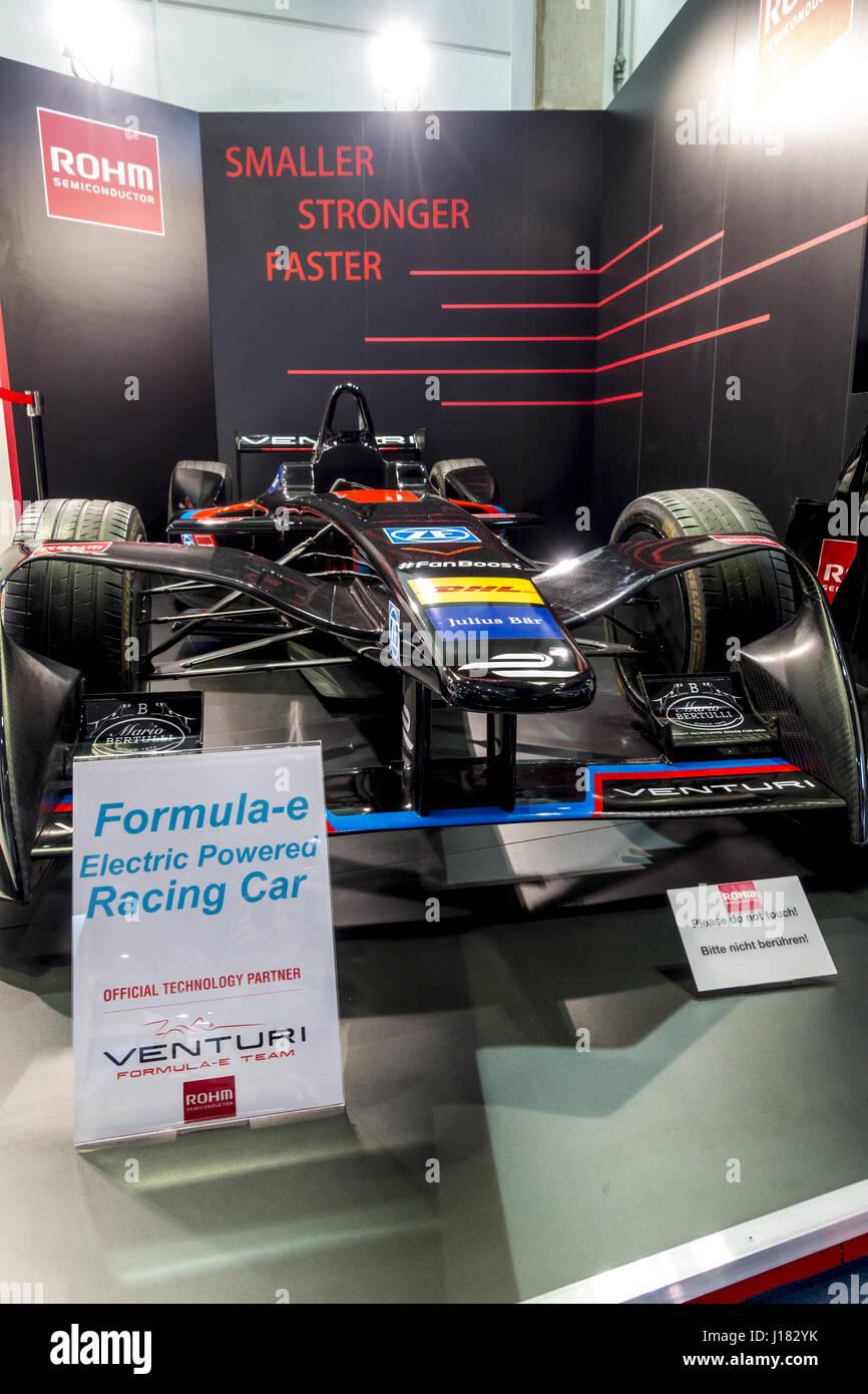 CEBIT 2017 Hannover, Formula E Rennwagen - Stock Image