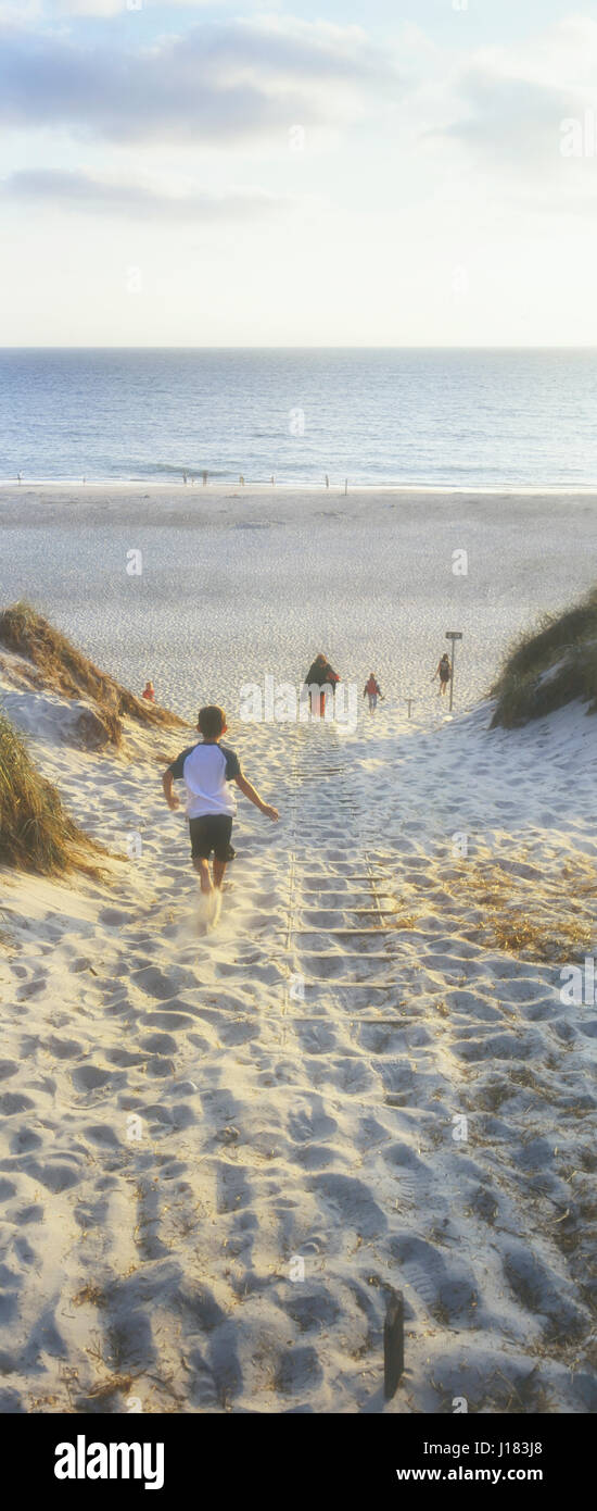 Sandy beach at Holmsland Klit, West Jutland. Denmark. - Stock Image