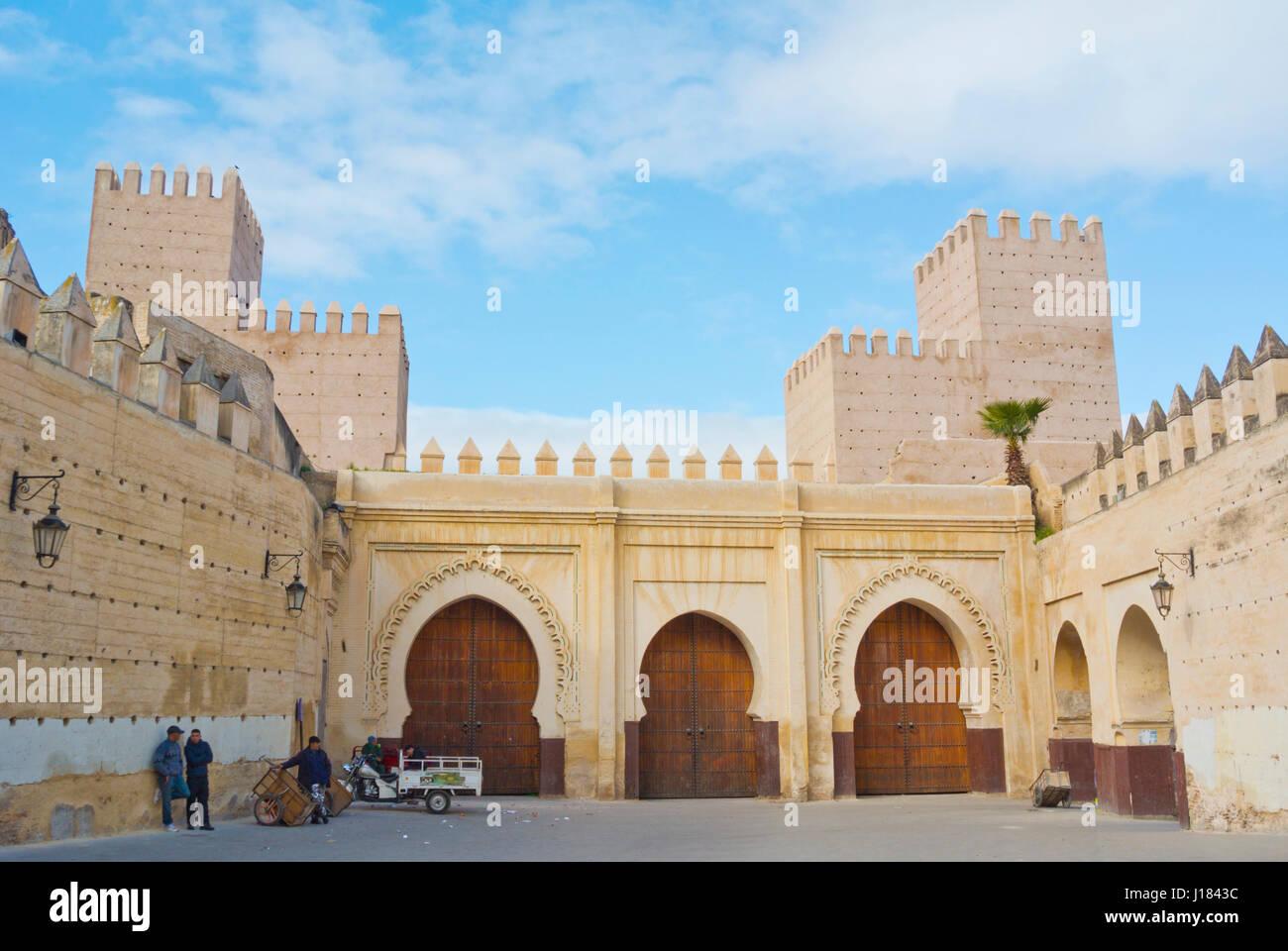Bab Makina, Fes el-Jdid, Fez, Morocco, Africa - Stock Image