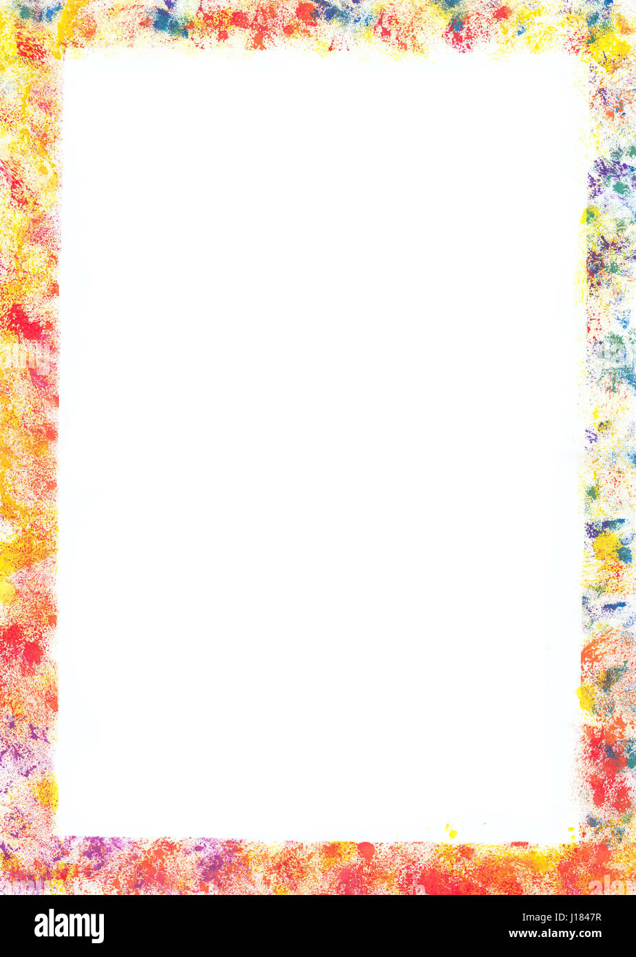 Painted frame with space for copy Stock Photo