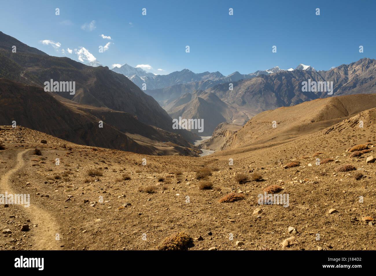 Himalaya mountains, Nepal. - Stock Image
