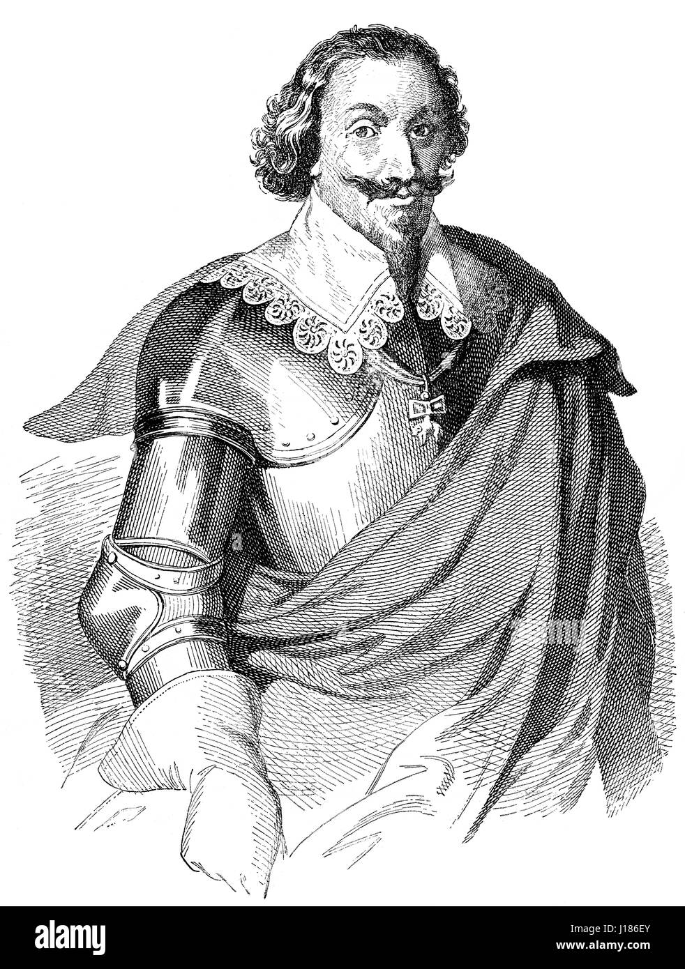 Gottfried Heinrich Graf zu Pappenheim, 1594 - 1632, a general in the Thirty Years' War for the Catholic League - Stock Image