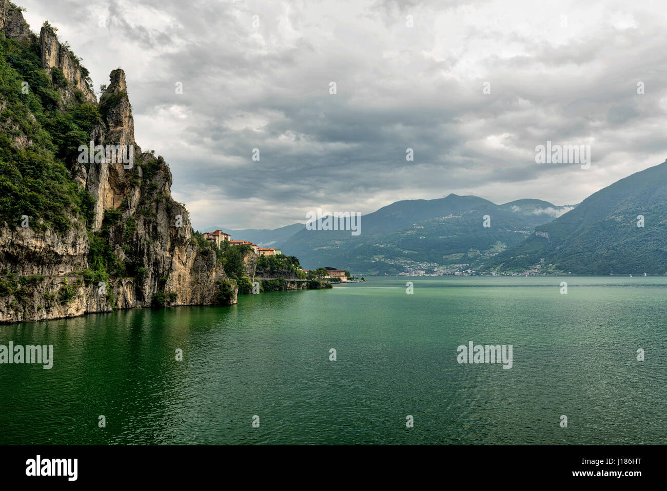 The lake of Iseo near Lovere (Bergamo, Lombardy, Italy) at summer Stock Photo