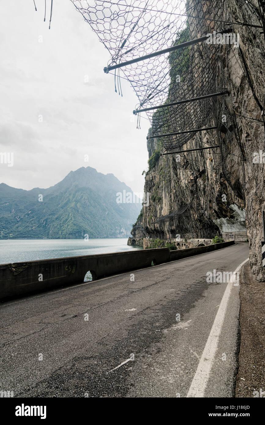 The lake of Iseo near Lovere (Bergamo, Lombardy, Italy) at summer - Stock Image