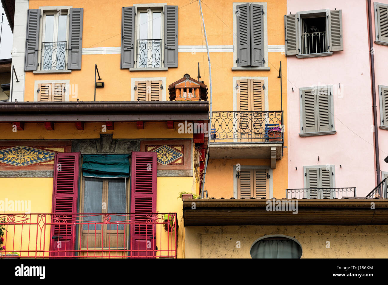 Lovere (Bergamo, Lombardy, Italy):, along the Iseo lake: historic square - Stock Image