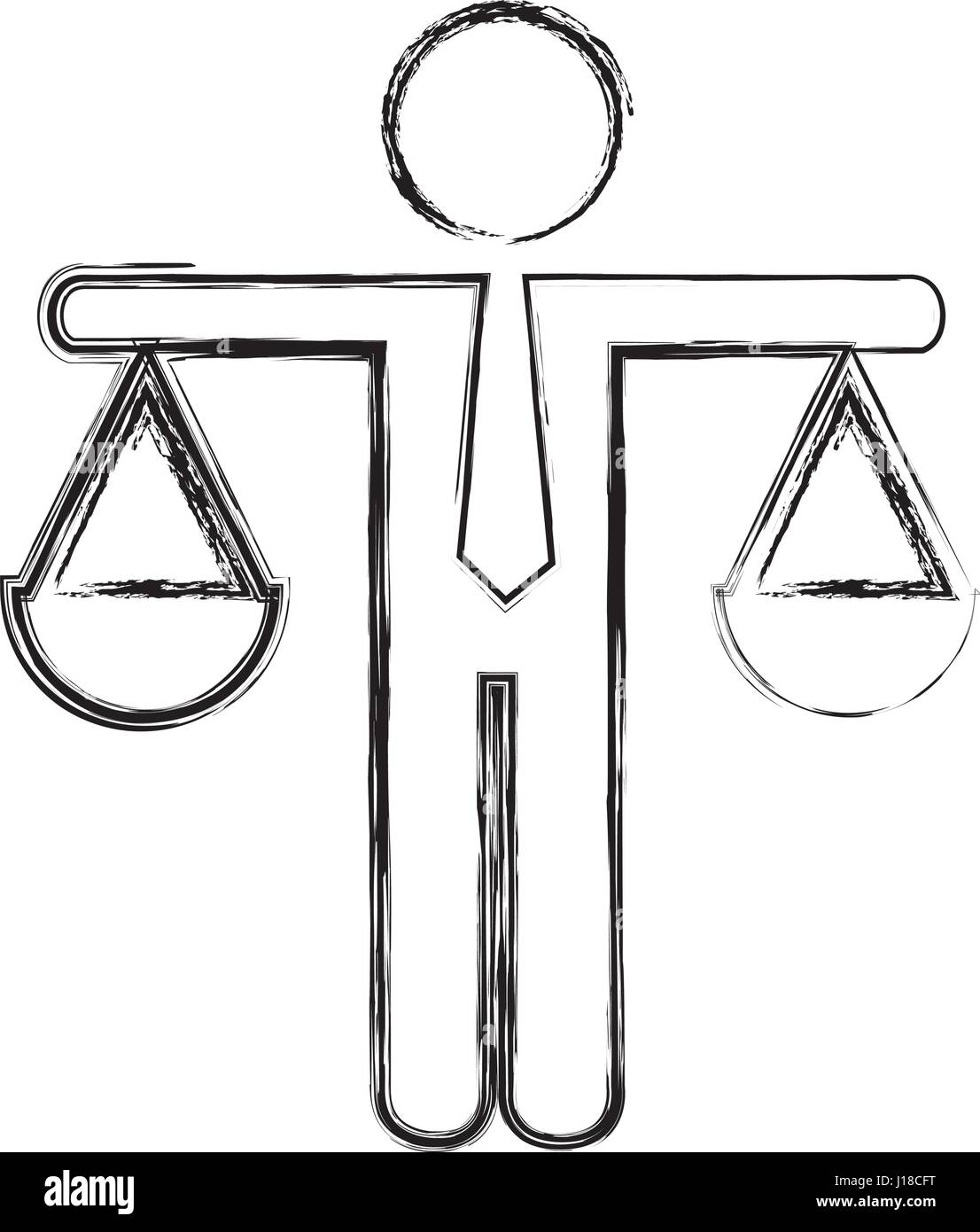 justice balance isolated icon - Stock Image