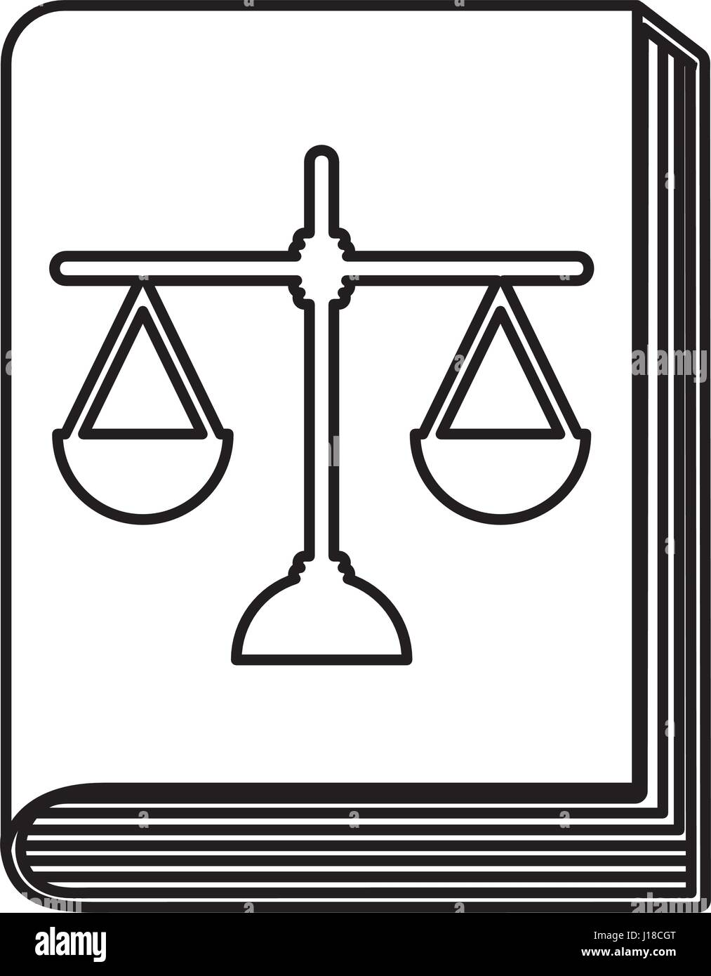 justice book with scale - Stock Vector