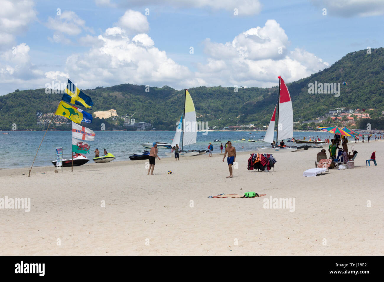 Watersport activities on Patong beach, Phuket, Thailand - Stock Image