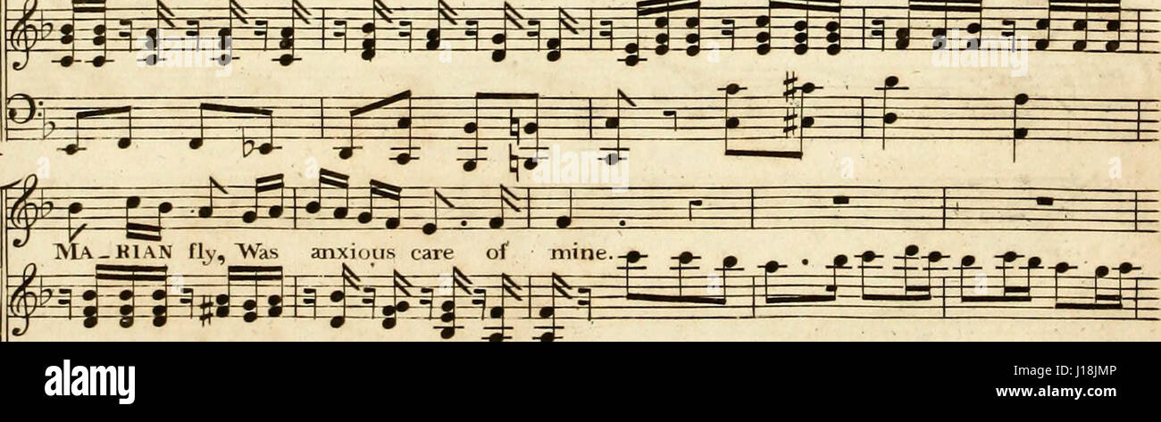 '[A composite music volume containing different issues of Thomson's octavo] collection of the songs of Burns, - Stock Image