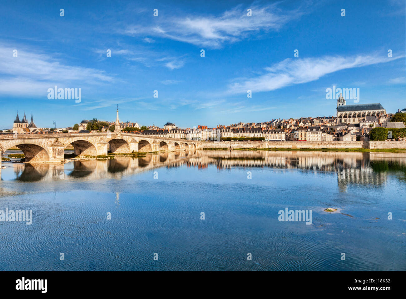 The old town of Blois, Loire Valley, France - Stock Image