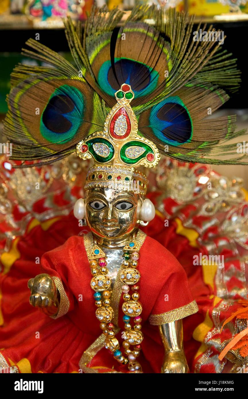 krishna idol vrindavan uttar pradesh india asia J18KMG