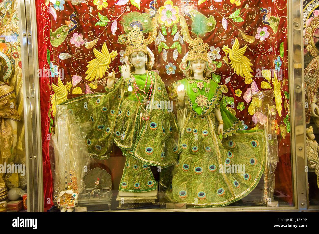 Radha Krishna Statue Mathura Uttar Stock Photos & Radha