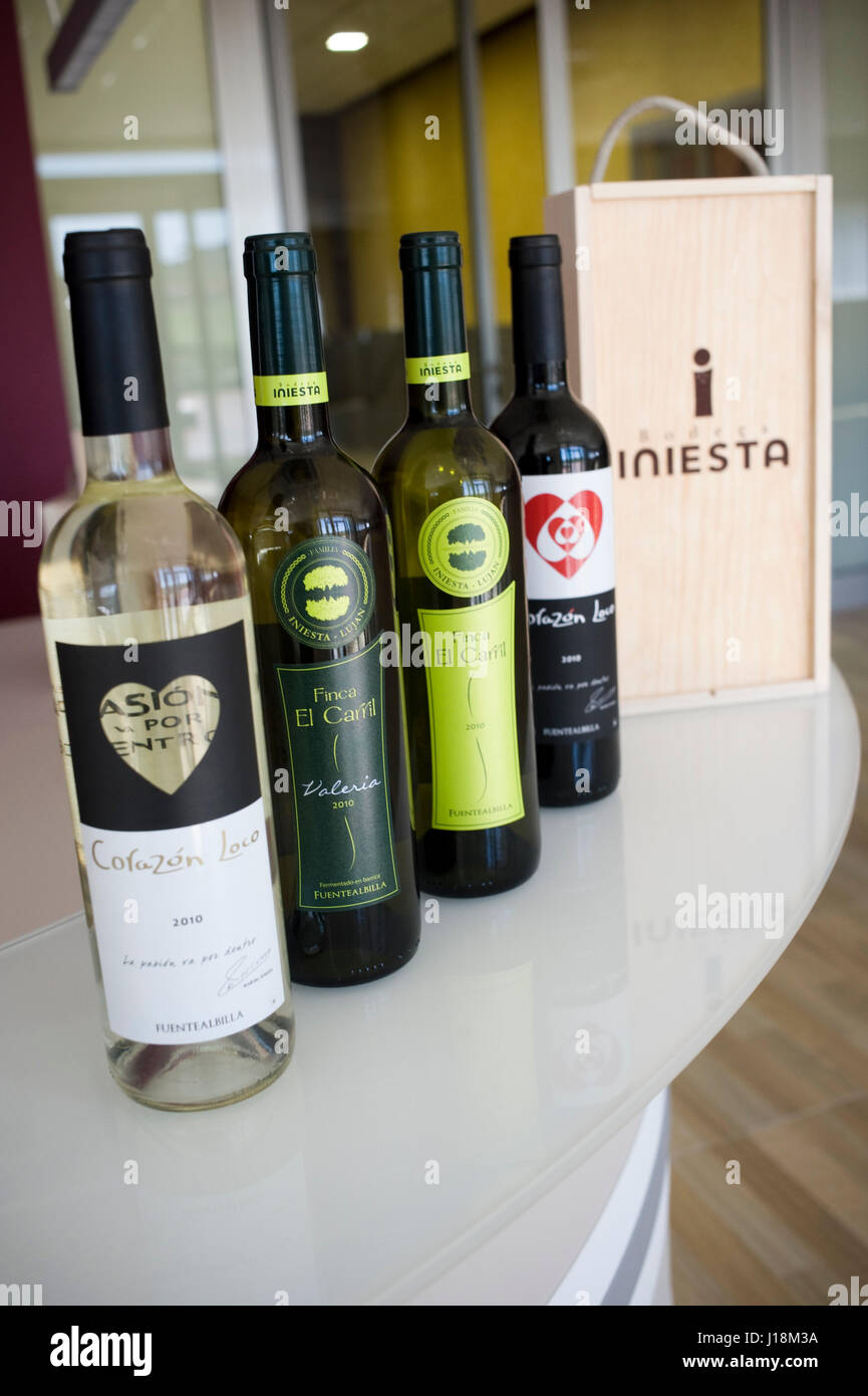 Iniesta Winery belongs to Football Club Barcelona player Andres Iniesta. Fuentealbilla, Albacete, Spain - Stock Image