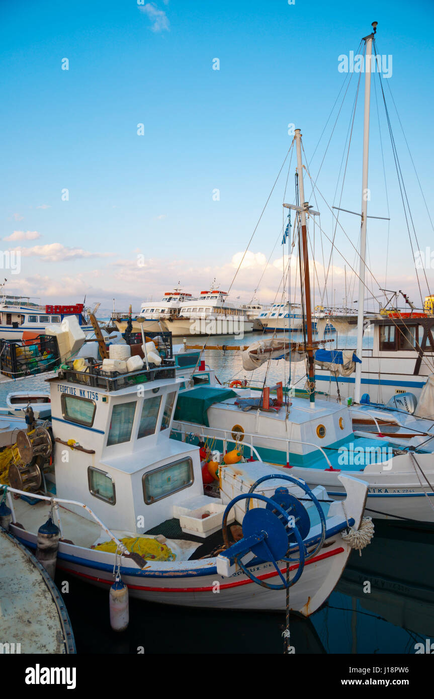 Old port, Corfu town, Kerkyra, Corfu Island, Ionian islands, Greece - Stock Image