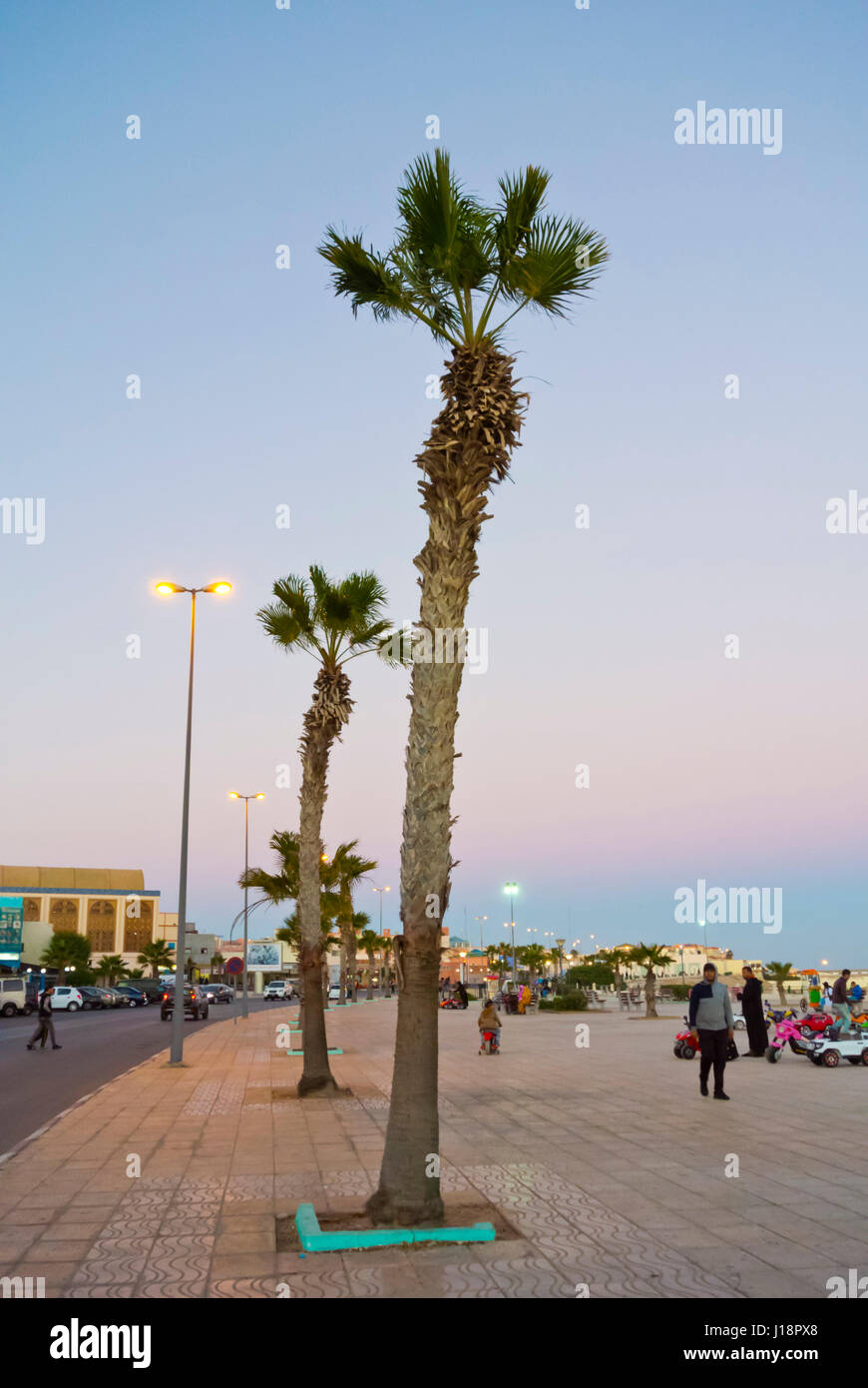 Seaside promenade, Dakhla, Western Sahara, administered by Morocco, Africa Stock Photo