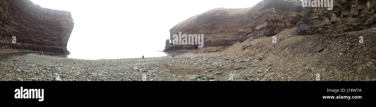 Panorama. Secret beach on bell island Stock Photo