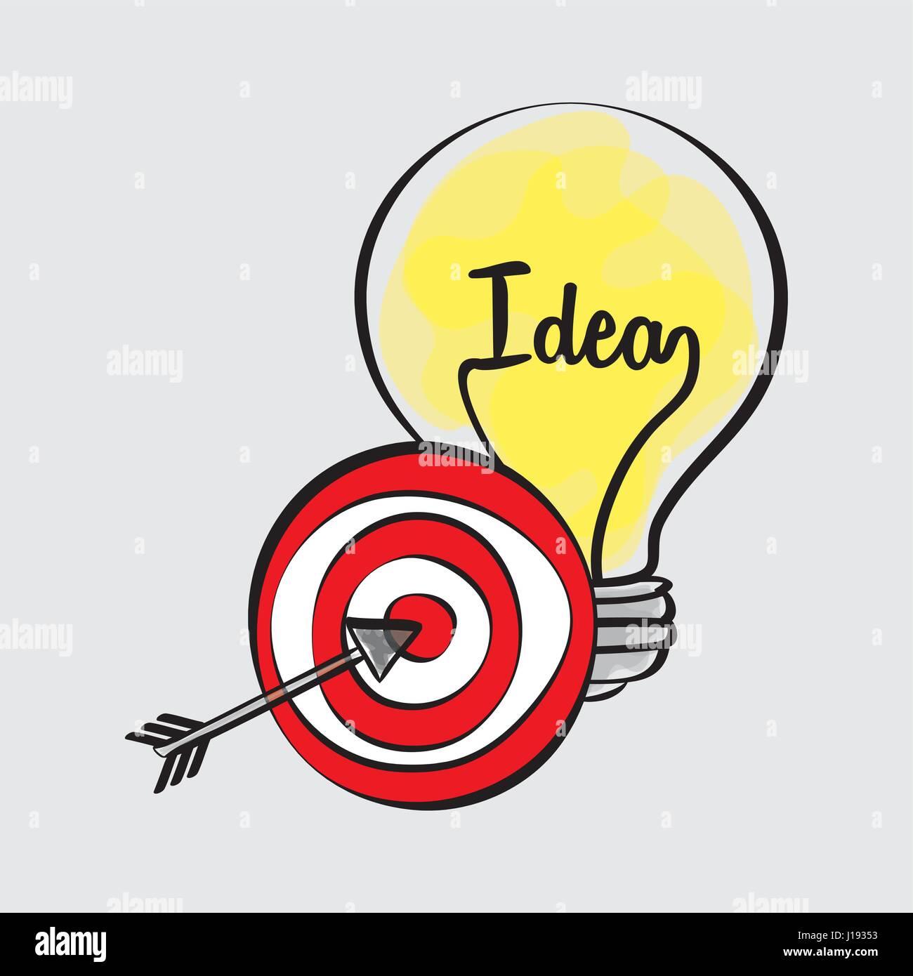 Idea design. sketch icon. White background , vector - Stock Image