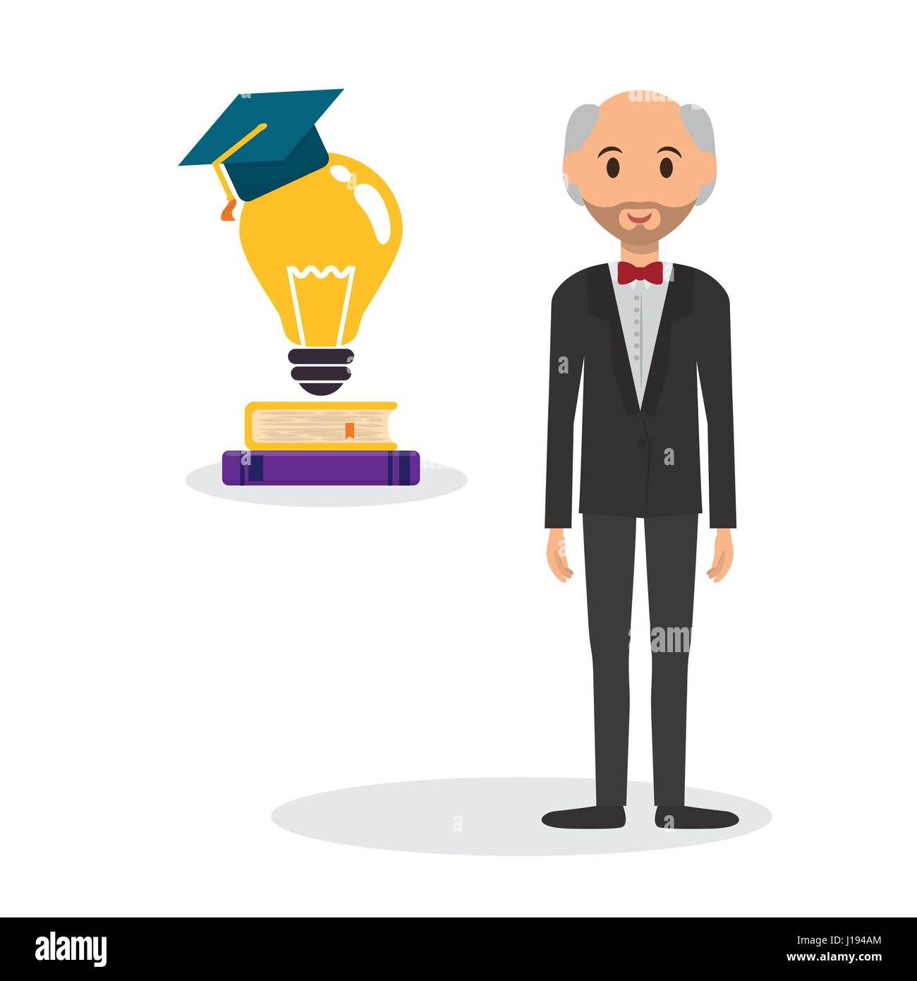 Education design. University icon. Colorfull and isolated illust Stock Vector