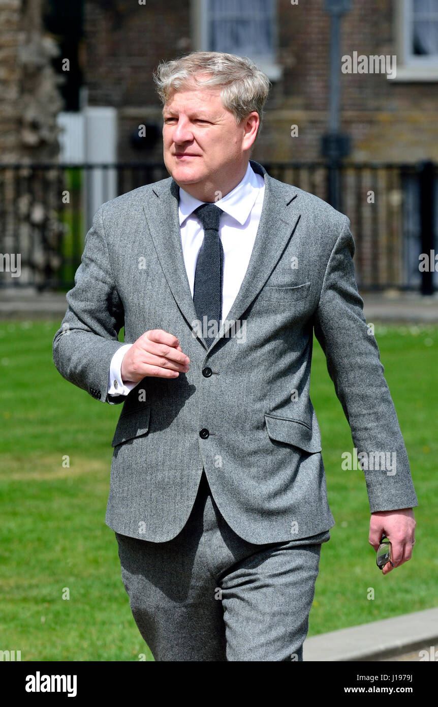 Angus Robertson MP (SNP: Moray) on College Green, Westminster 18th April 2017 shortly after a general election was - Stock Image