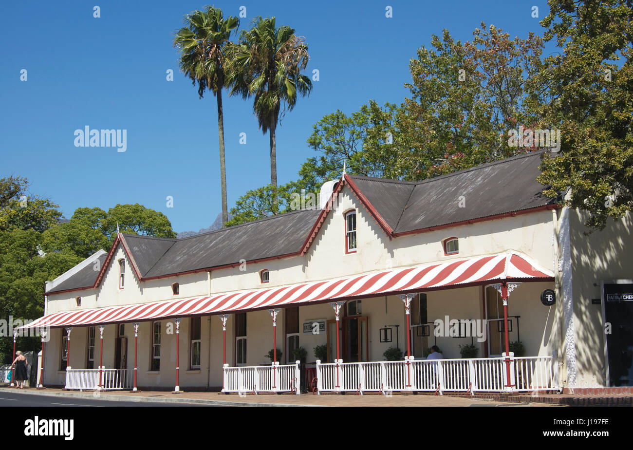 Old building now Fat Butcher restaurant Stellenbosch Western Cape South Africa - Stock Image