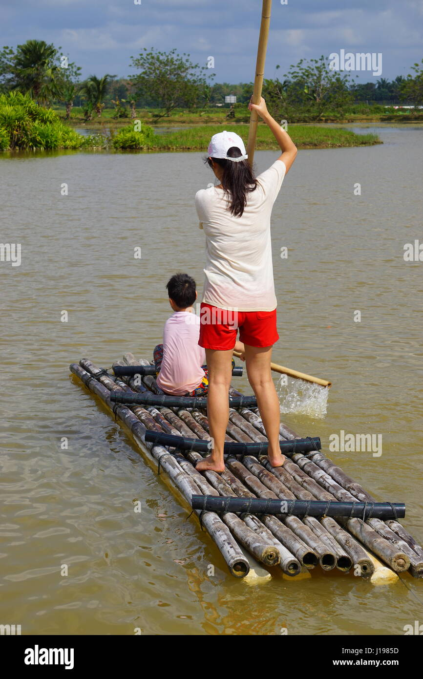 teamwork and family time - Stock Image
