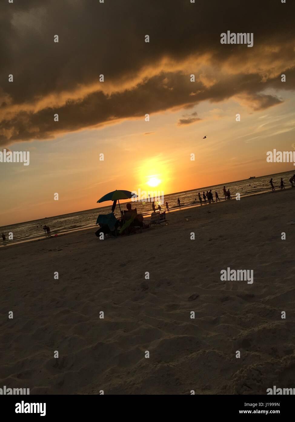 Miami evenings! - Stock Image