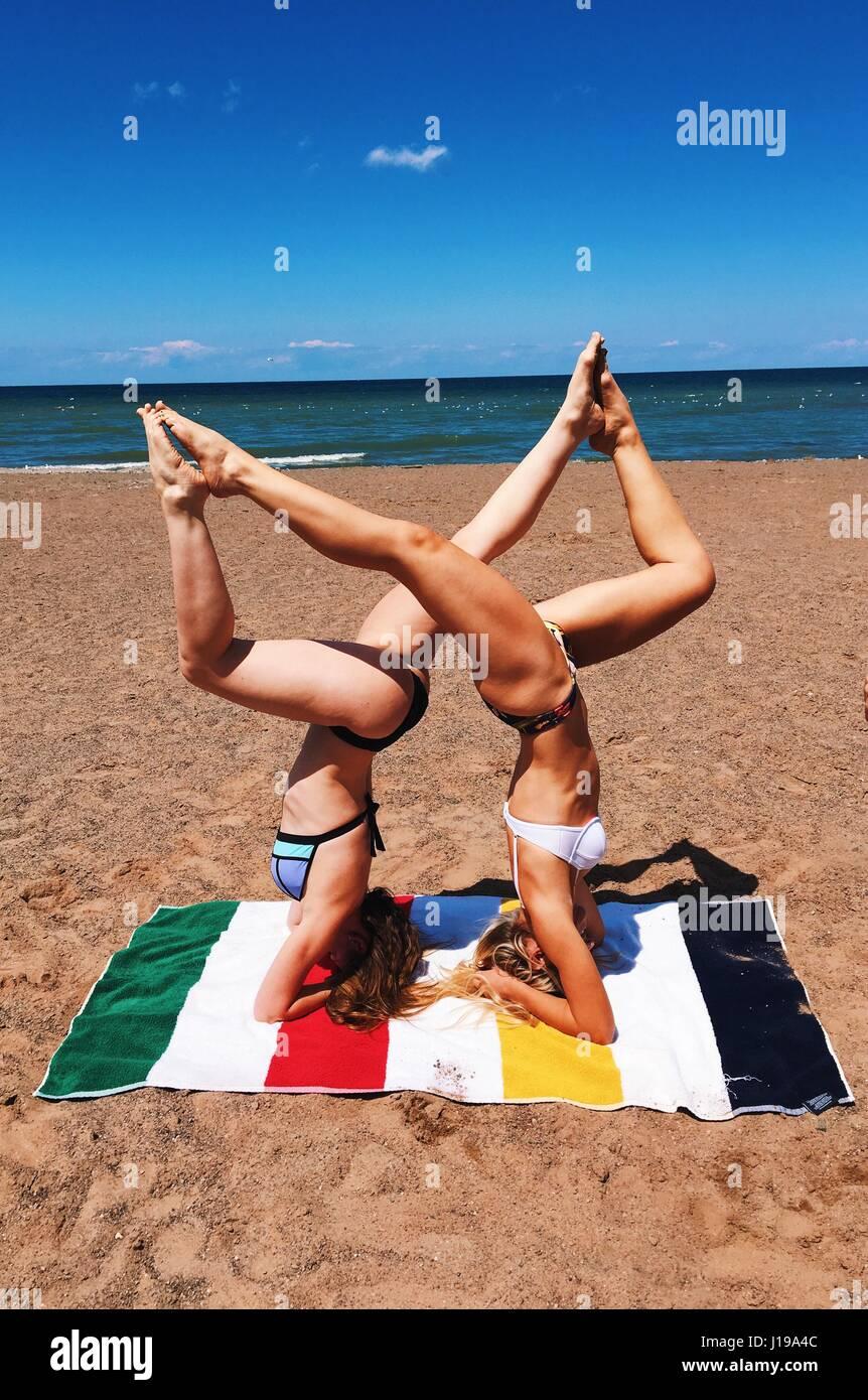 Yoga All Damn Day - Stock Image