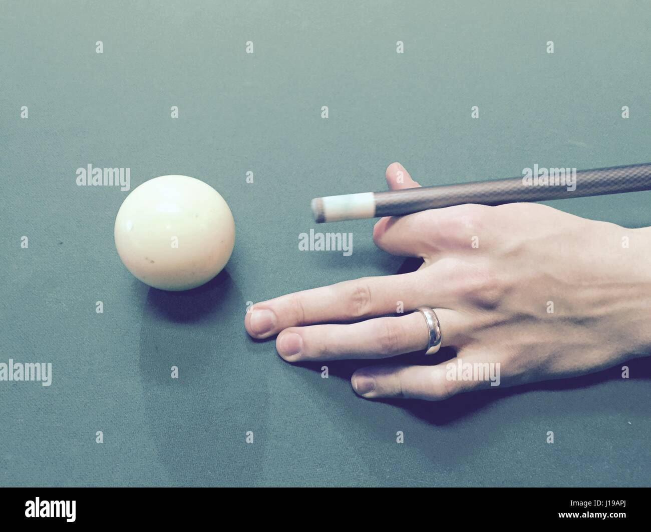 Playing Pool - Stock Image
