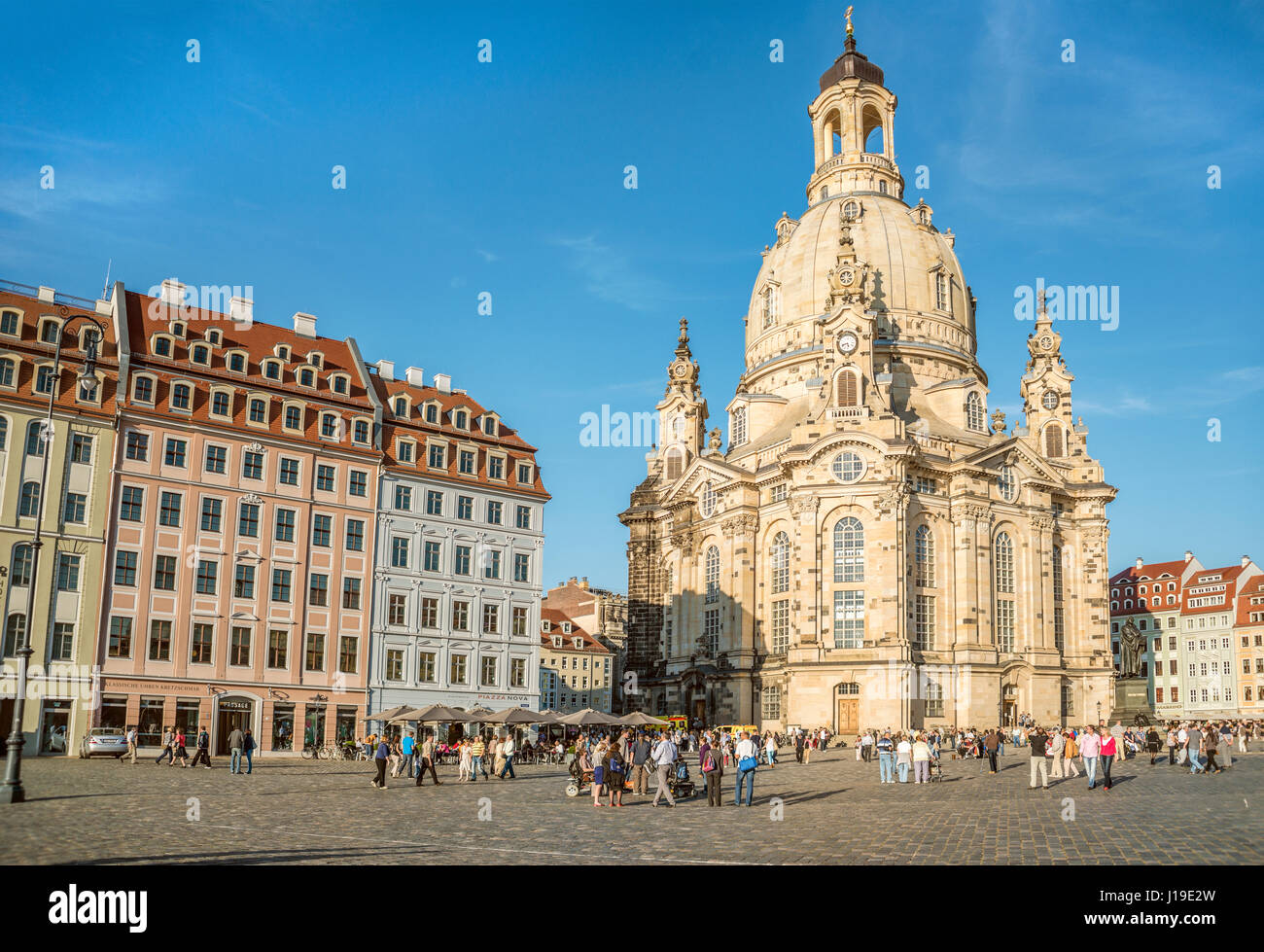 Dresden Frauenkirche Cathedral, Saxony, Germany Stock Photo