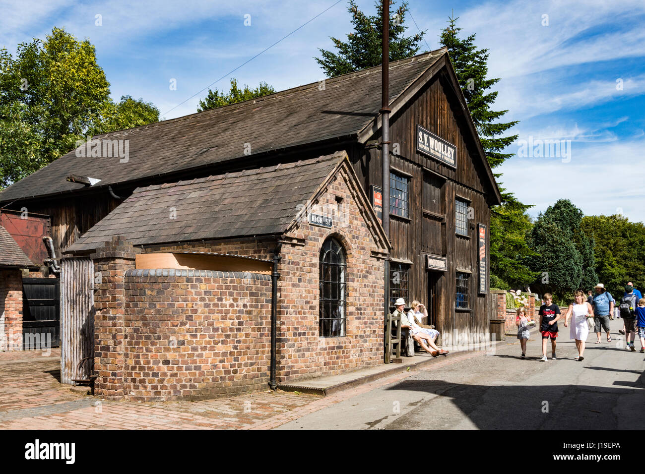 The Saw Mill and Undertaker's workshop at the Blists Hill Victorian Town, near Madeley, Shropshire, England, - Stock Image
