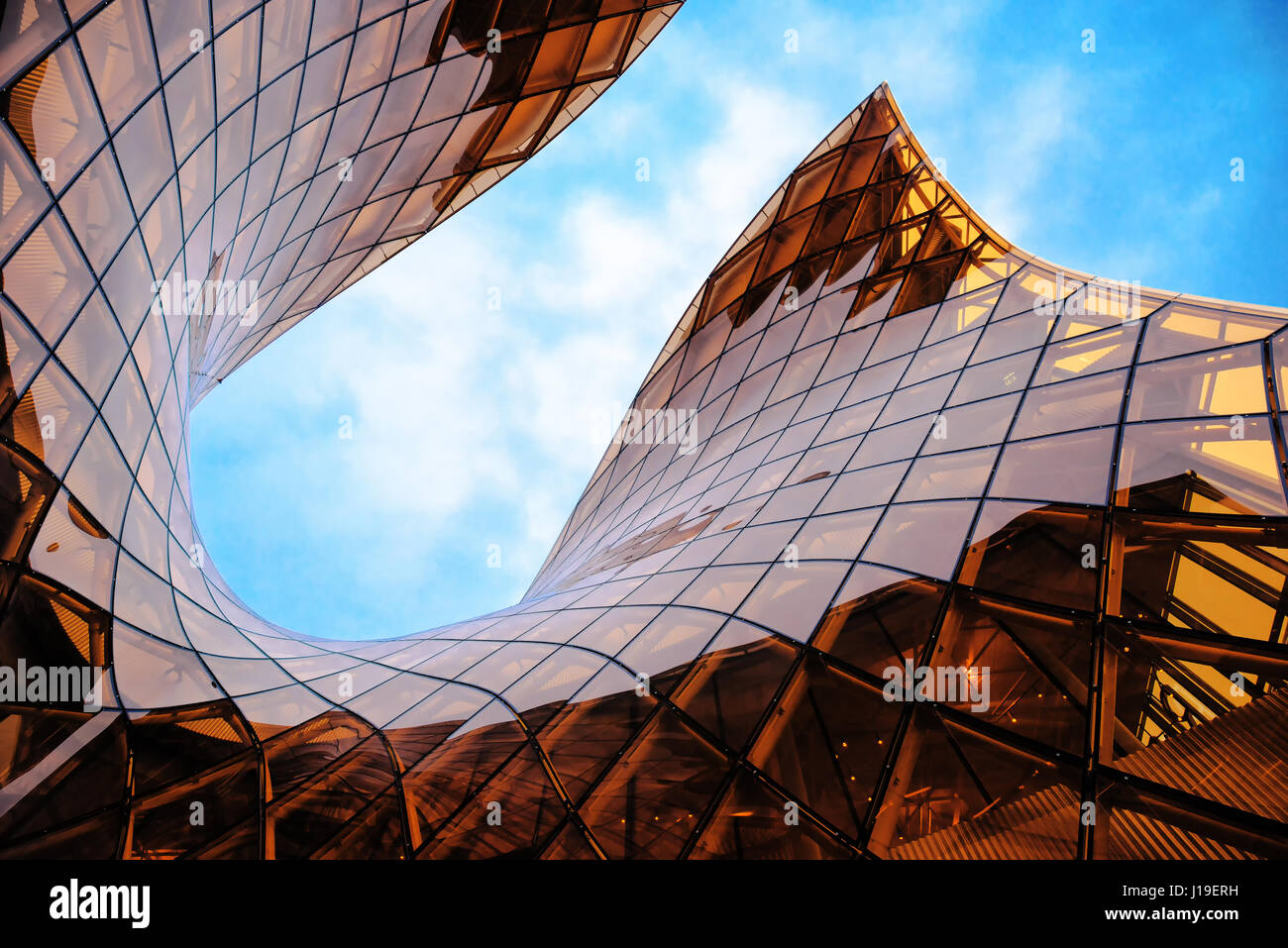 MALMO, SWEDEN - MARCH 08, 2017: Malmo's Emporia Shopping Center modern glass facade. The largest shopping mall - Stock Image