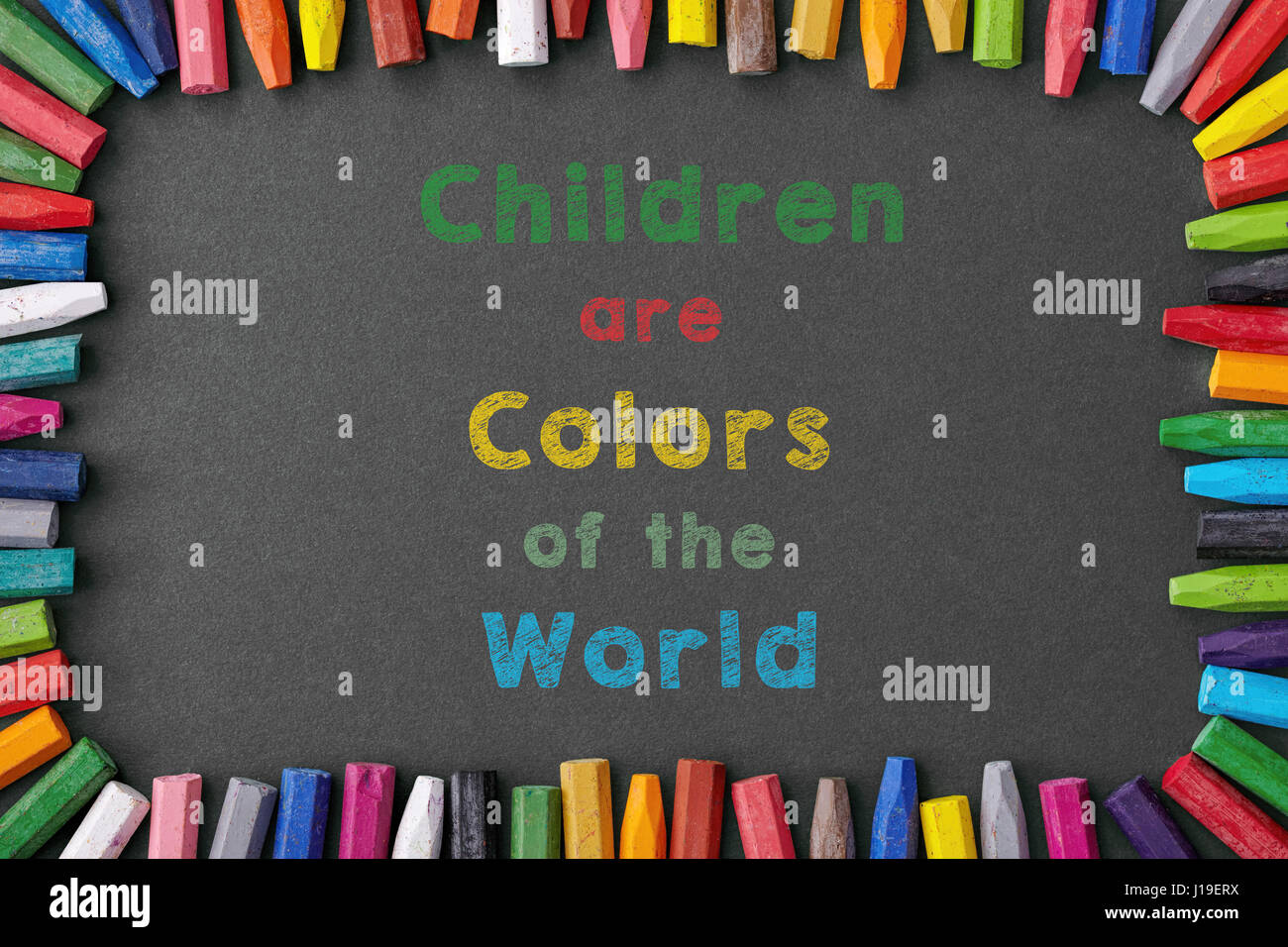 children are colors of the world Stock Photo
