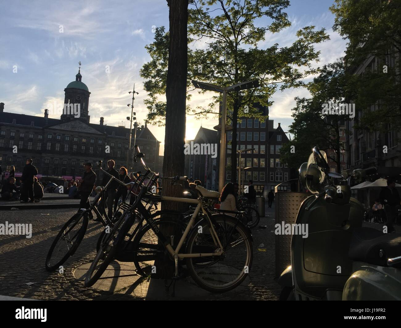 Evenings in Amsterdam - Stock Image