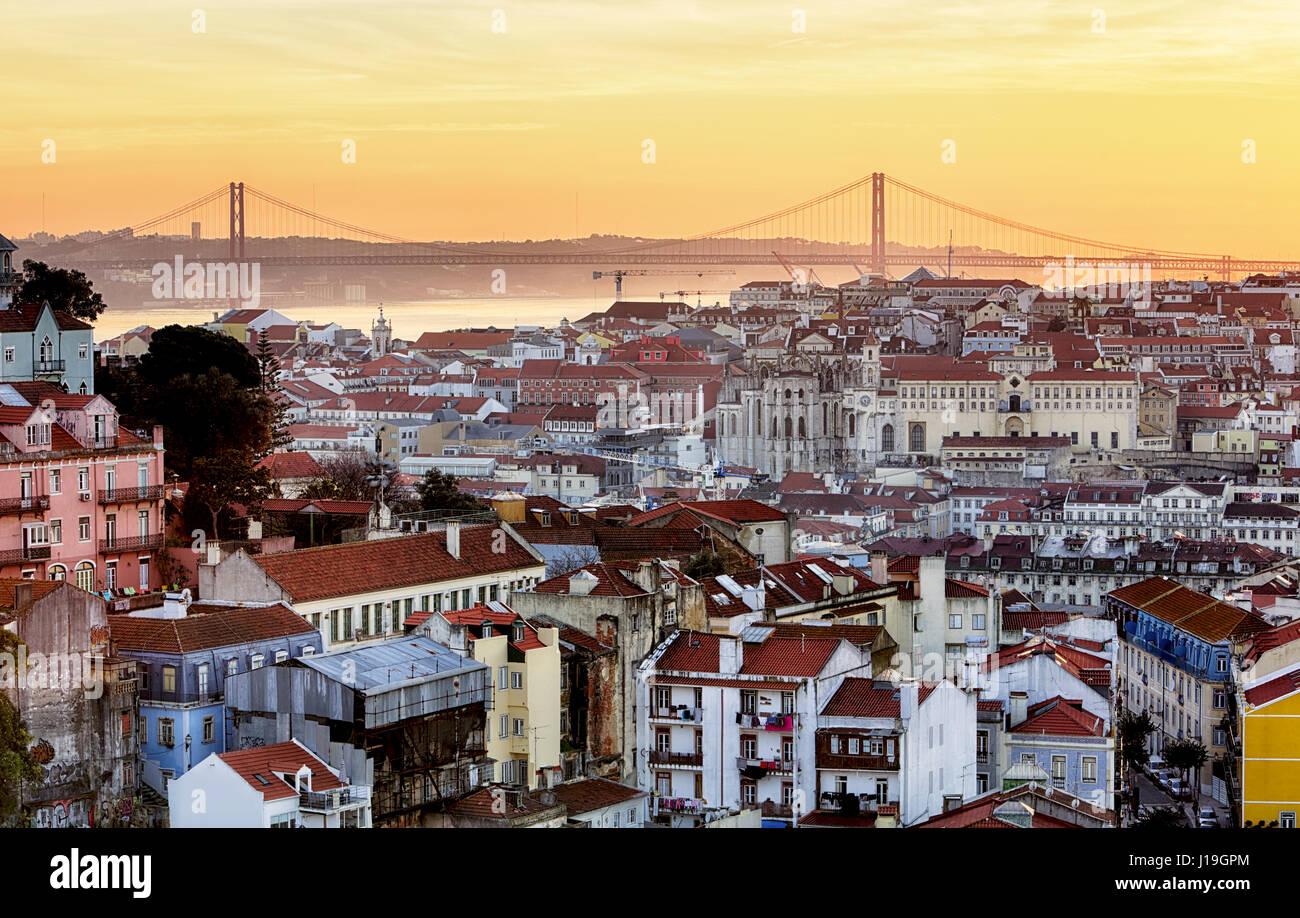 Lisbon - Lisboa cityscape, Portugal - Stock Image