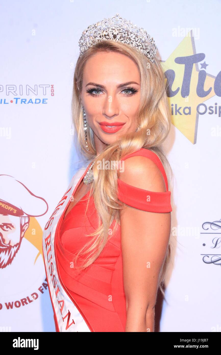 6th Annual Miss Russian Los Angeles 2017 - Arrivals Featuring: Kristina Cheremnykh Where: Hollywood, California, - Stock Image
