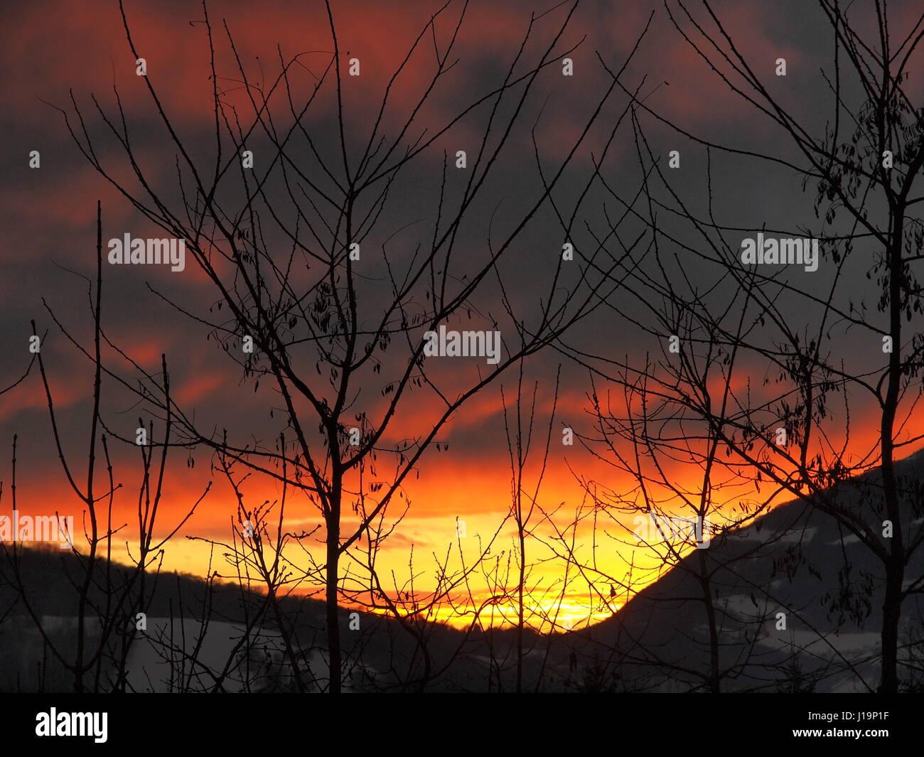 accarezzare il tramonto... - Stock Image