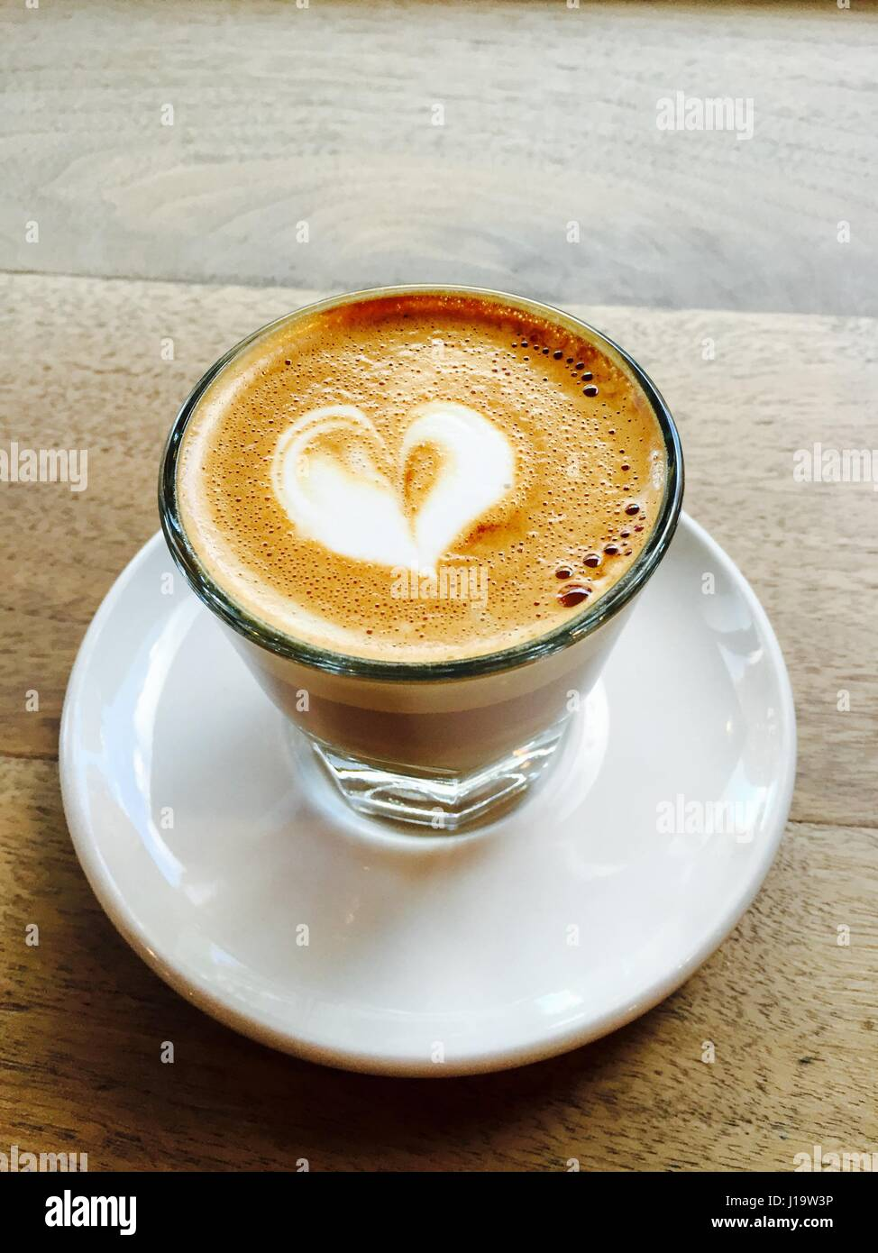 I orchestrate my mornings to the tune of coffee. Terri Guillemets - Stock Image