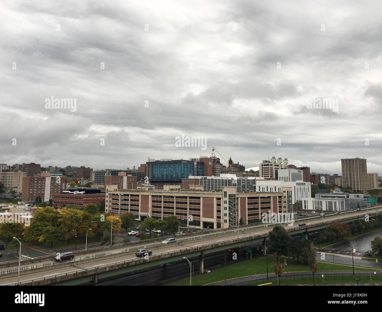My clients have some amazing views of Syracuse, NY. - Stock Image