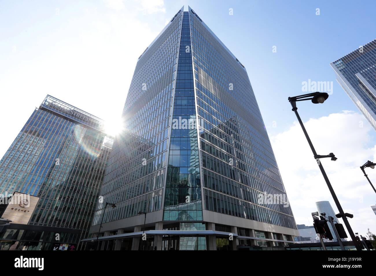 Office Blocks in Canary Wharf East London E14 Great Britain - Stock Image