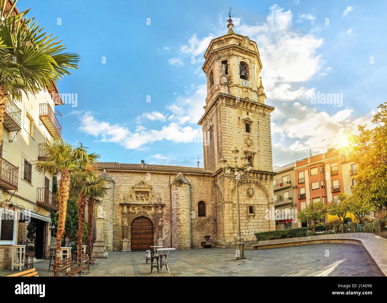 Basilica of San Ildefonso in Jaen, Andalusia, Spain - Stock Image