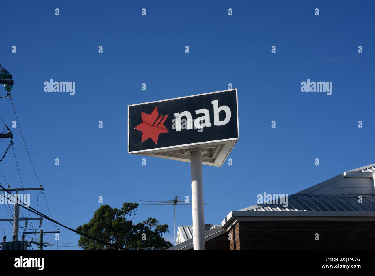 Kippa-Ring, Queensland, Australia: Sign outisde branch of NAB (National Australia Bank) branch - Stock Image