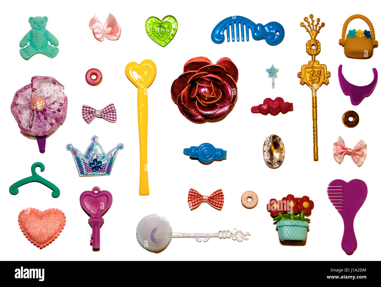 Flat lay Little Girl's Things - Stock Image
